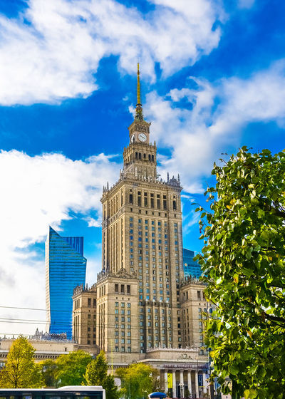 PKiN. Palace Of Culture And Science WarsawPoland Poland Poland Is Beautiful Polska Postcode Postcards Warsaw Poland WarsawCity Architecture Building Exterior Built Structure Sky Stolica Travel Destinations Warsaw Centrum Warsaw Posters Warsaw