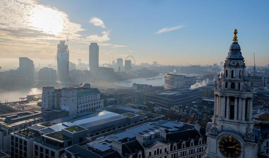 Kuppelblick Aussichtsplattform Aussicht Blick Von Oben Architecture St Paul's Cathedral Sicht Auf London