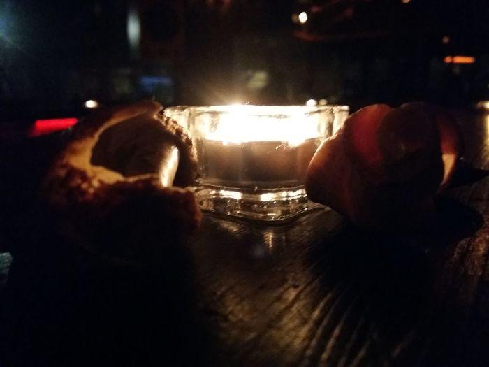 just a candle light Bar Lights And Shadows Nightlife Silhouette Nightphotography Night Illuminated Close-up Alcoholic Drink Nightclub