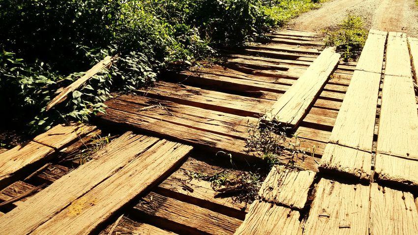 Condições das pontes Old Bridge Ponte Velha Wood Damaged