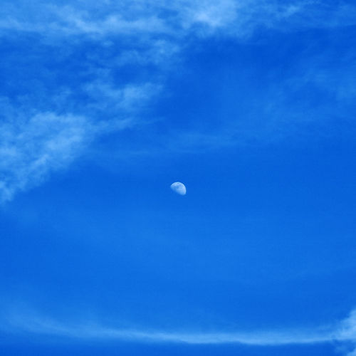 A6000 Beauty In Nature Blue Day Half Moon Moon Nature Sky Zeiss32mmf18