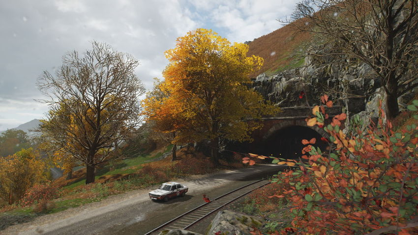 FH4 Forza Horizon 4 Forza Horizon Autumn Tree Transportation Mode Of Transportation Car Plant Motor Vehicle Nature Land Vehicle Change Sky Road Day Outdoors Cloud - Sky Motion Growth Orange Color No People Leaf Fall