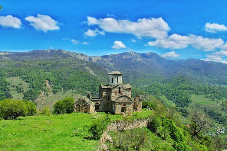 Shoana Church Against Mountains