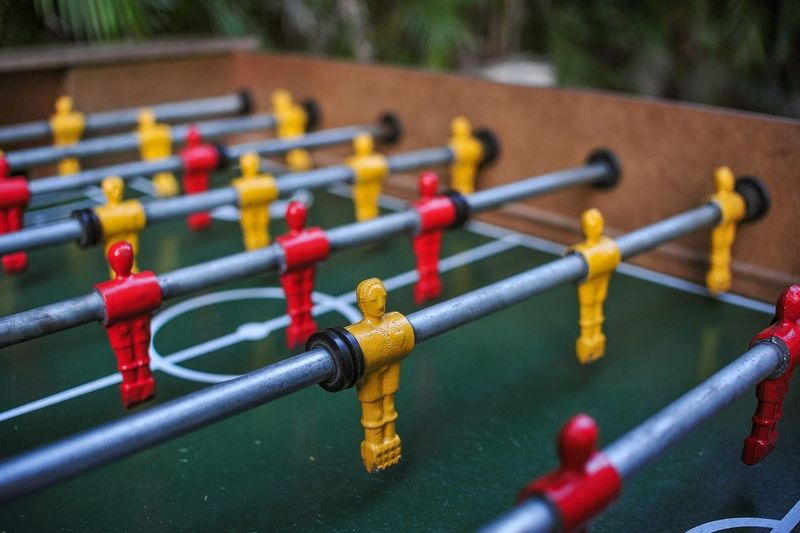 Foosball Colors Playing EyeEm Best Shots Eye4photography  Getting Inspired Dof Depth Of Field Paint The Town Yellow