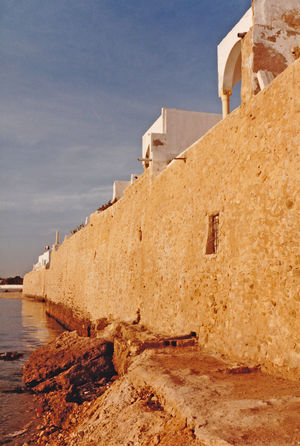 Medina wall next to the sea - Hammamet, Tunisia Architecture Sea Water Nature Sky Day History Outdoors Fort No People Building Exterior Built Structure Clay Wall Hammamet Tunisia A Taste Of Tunisia Medina Wall