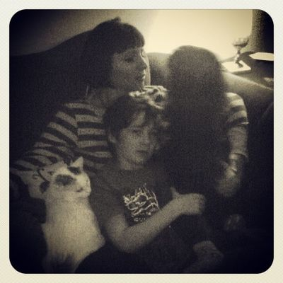 Typical Saturday evening with my babes...