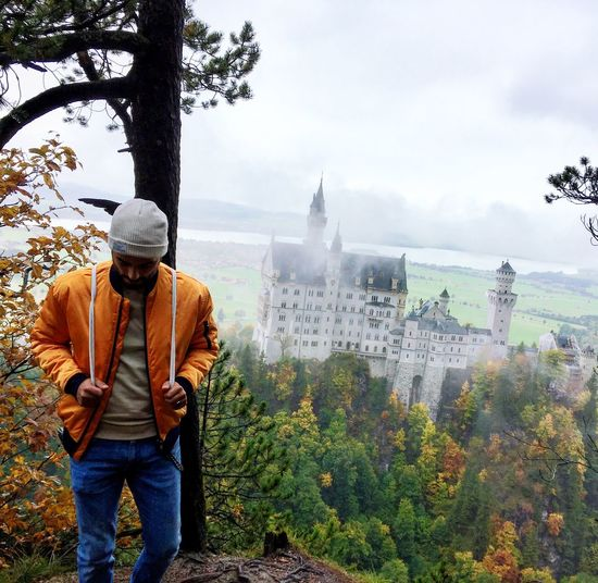 Castle Menstyle Men Me Model Schwanstein Castle Men Real People Tree Plant One Person Leisure Activity Sky Nature Lifestyles Casual Clothing Outdoors
