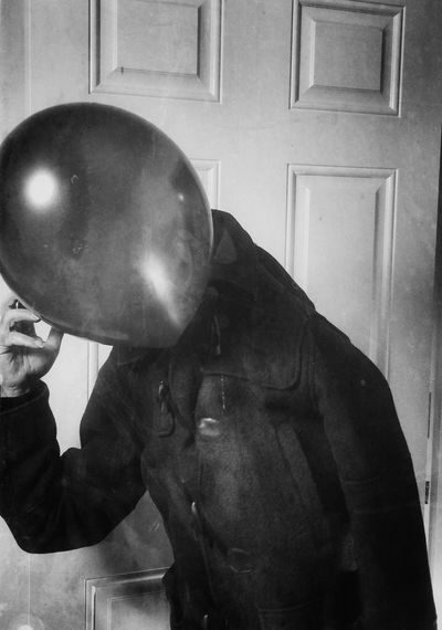 Rethink Things Abstract One Man Only Suit Real People One Person Anstract Surreal Balloon Indoors  Walking