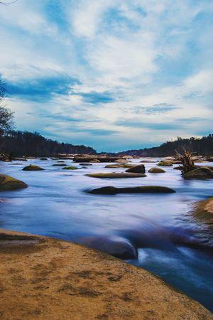 Long Exposure Photography Richmond, VA River Water Nature Rock