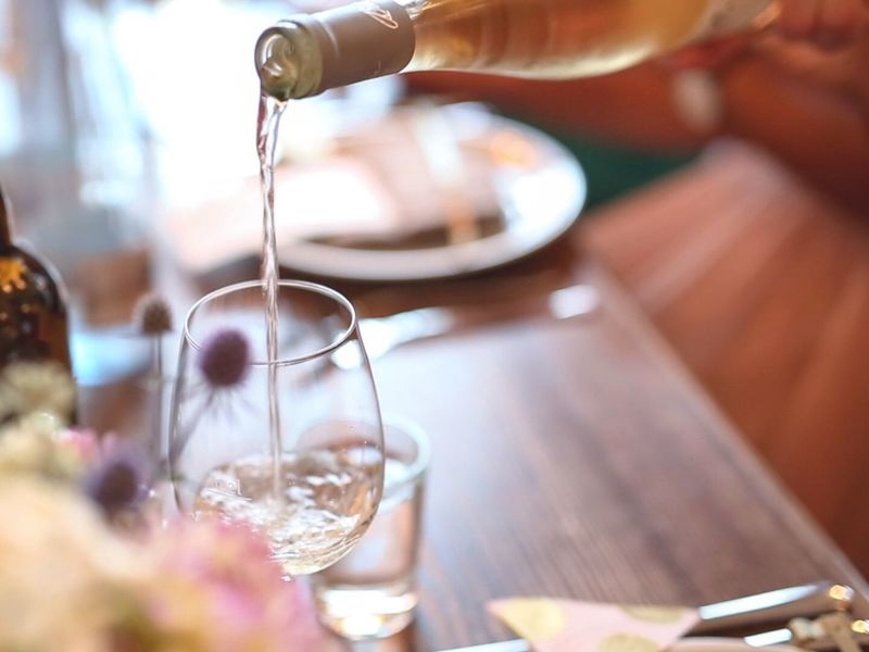 Dinner Wine Wine Glass Pooring Wine Waiter Drinks Serving Dinner