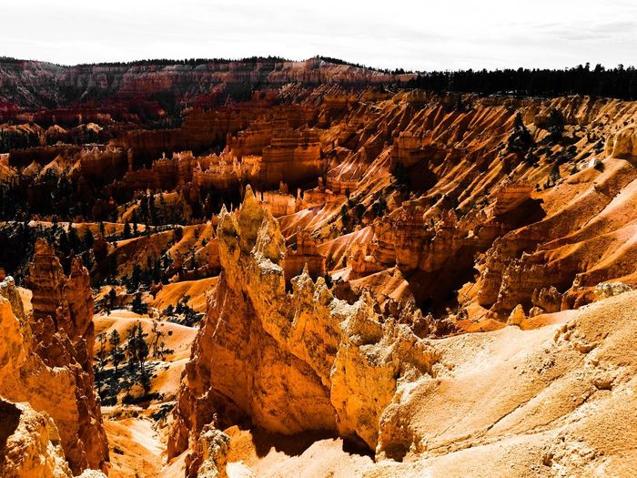 USA Photos Color Palette Rock Formation Rock - Object Travel Landscapes Landscape Traveling Travel Destinations Desert Brown Nature Bryce Canyon Bryce Canyon National Park Extreme Terrain Arid Climate Tranquility Mountain Landscape Dreamscapes Playing With Filters USA Rocks Red Rocks  Travel Photography Mountain Range