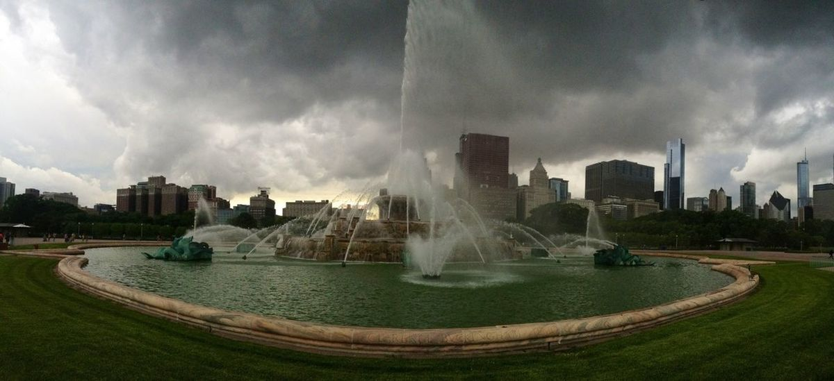 If a storms coming on, I wanna feel it Fountain Clouds And Sky