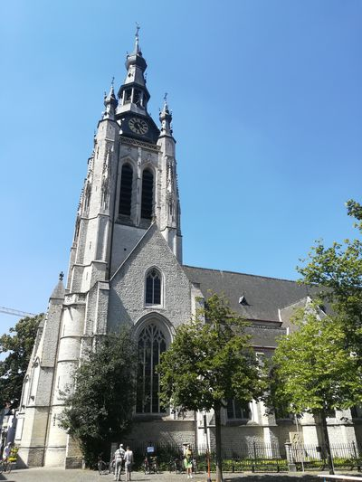Church kortrijk Clock Tree Clock Face Place Of Worship Clock Tower History Religion Cityscape Sky Architecture Urban Skyline