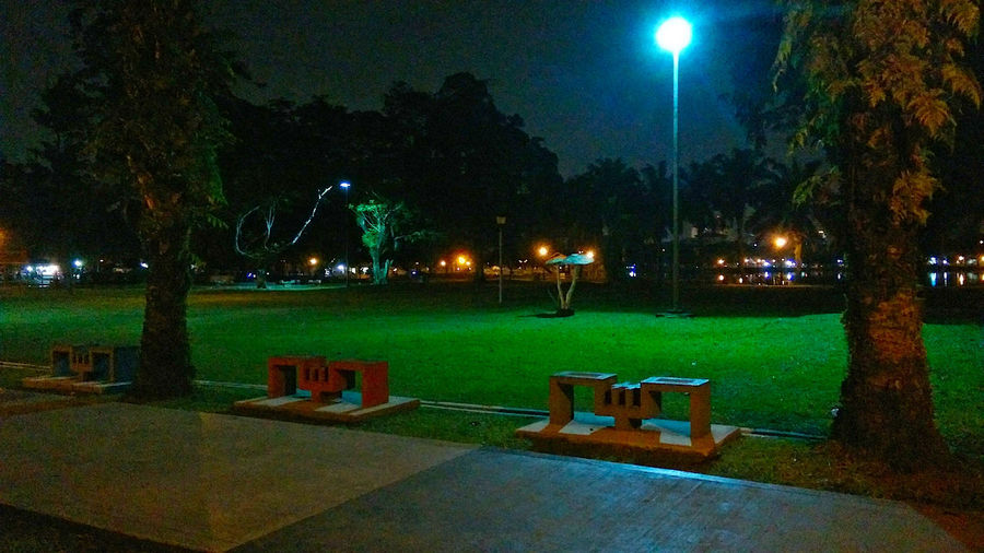 Park At Night Public Park Trees Architecture Bench Electric Lamp Footpath Glowing Grass Illuminated Light Lighting Equipment Midnight Walk Moon Nature Night No People Outdoors Park Park - Man Made Space Plant Playground At Night Seat Street Light Tree EyeEmNewHere