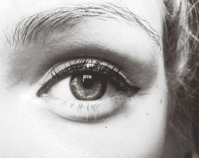 Eyeliner Eye Lashes Black & White