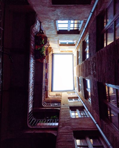Old Eye 🏺🍃 Staircase Architecture Steps And Staircases Built Structure Steps No People Spiral Window Low Angle View Building Exterior Day Indoors