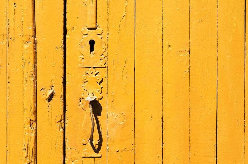 Full frame of old wooden door