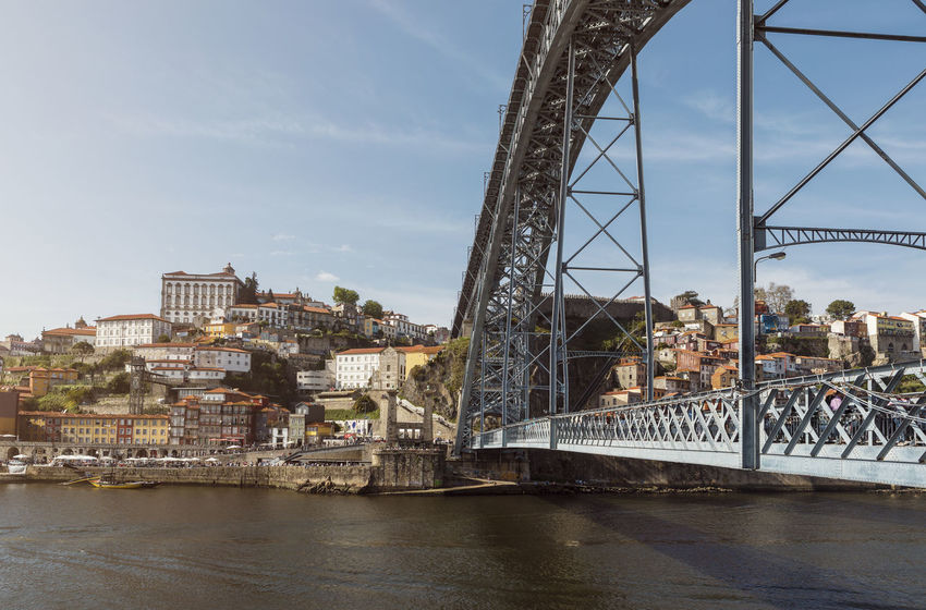 Ponte Dom Luis I Porto Portugal Architecture Bridge Bridge - Man Made Structure Building Building Exterior Built Structure City Cityscape Connection Day Duro Engineering Metal Nature Outdoors Place River Side View Sky Transportation Water
