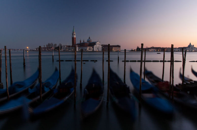 Blue Boat Calm Culture Italy Nature Sea Sky Tranquil Scene Tranquility Venice Water Waterfront