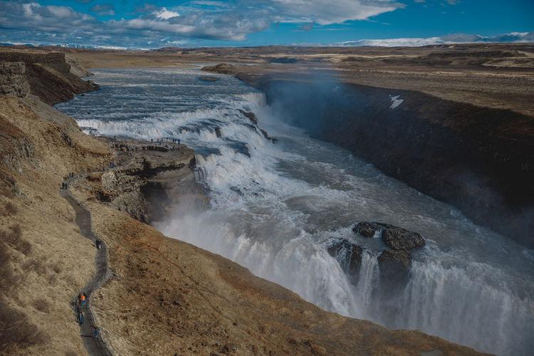 Gullfos Falls Iceland Исландия Waterfall Nature Travel Family Travels