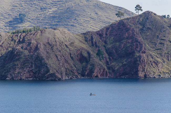 Boat Capachica Lonesome Mountain Peru Physical Geography Puno, Perú Remote Rock Formation Rocky Mountains Titicaca Water Andes