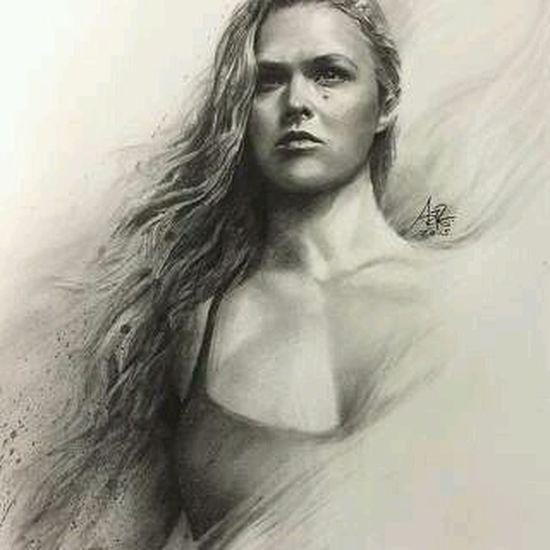 Ronda Rousey RondaRousey Retratodesenhado Drawpicture Fightgirl ufc strongwomen