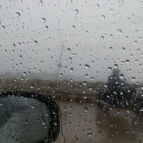 Water Drops Window Rainy Season
