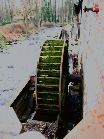 Water Watermill Nature Outdoors No People Water Wheel Cold Temperature