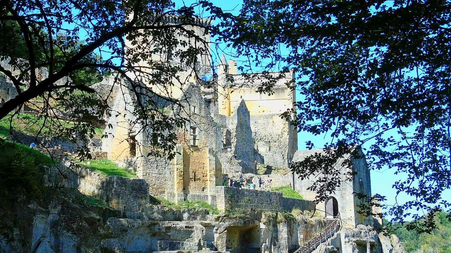Chateau De Commarque Dordogne Castle Landscape Ruins Ancient History The Past Fort Fortified Wall Past Old Ruin Historic Ruined
