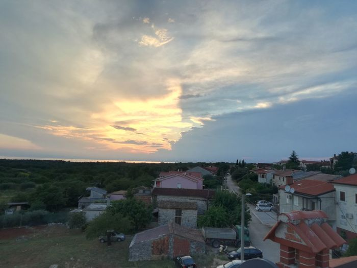 Sunset Cloud - Sky High Angle View Outdoors Sky No People Community Day Nature City