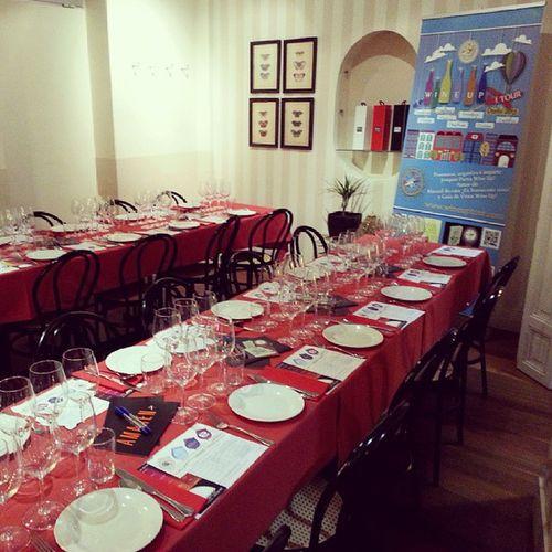 Preparado para una nueva Sesion del Wineuptour en @fbenogastronmic Fuentes & Bonetillo, Madrid