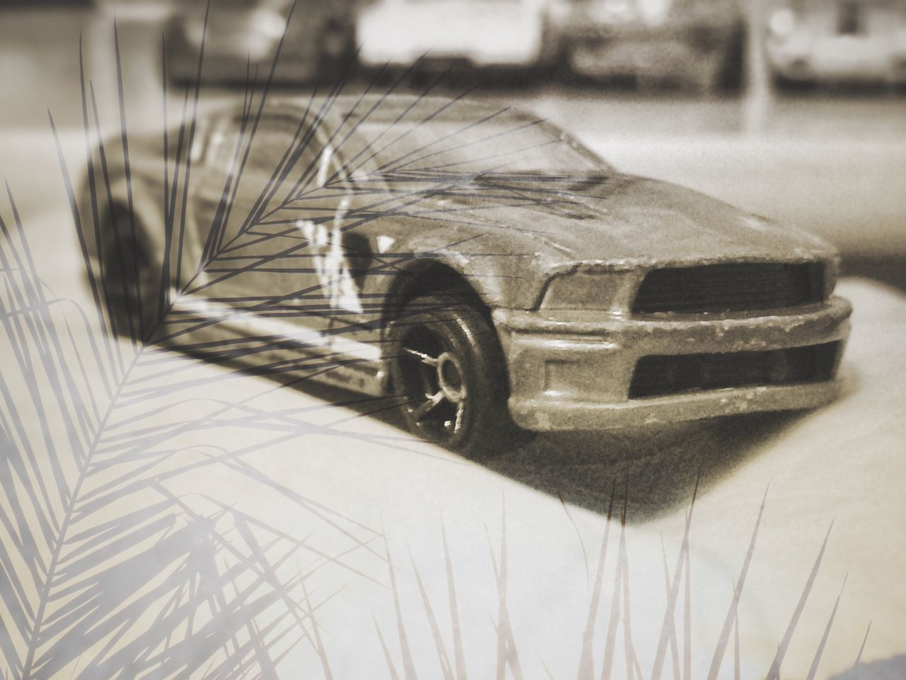 CLOSE-UP OF TOY CAR IN CONTAINER