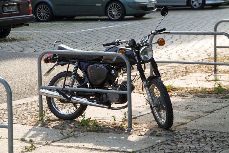 Motorcycle Parked Transportation