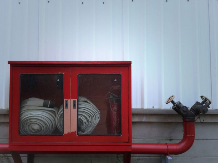 Red Pipe - Tube No People Day Outdoors Technology Architecture Close-up Fire Hydrant Unsafe