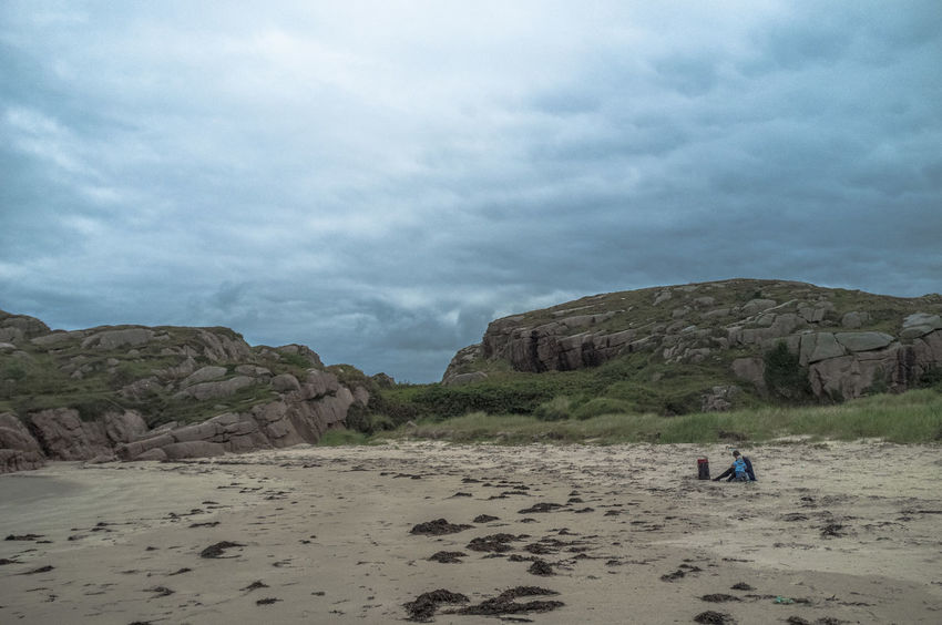 Autmun Beach Cliff Clouds And Sky Cloudy Dramatic Sky Grey Ireland Rock Formation FujiFilm X100
