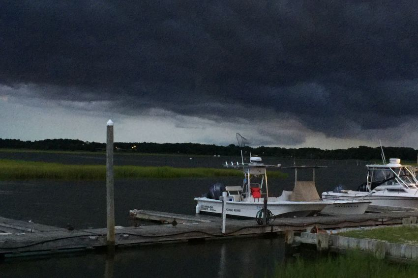 Angry skyline Nautical Vessel Storm Cloud Cloud - Sky Water Moored Transportation Boat Sky Cloudy Overcast Tranquility Harbor Cloud Cloudscape