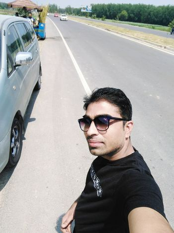 Sunglasses Young Adult Road Portrait One Person Summer One Man Only Cool Attitude Adult Transportation Adults Only People Only Men Fashion One Young Man Only Outdoors Day Looking At Camera Men Human Body Part
