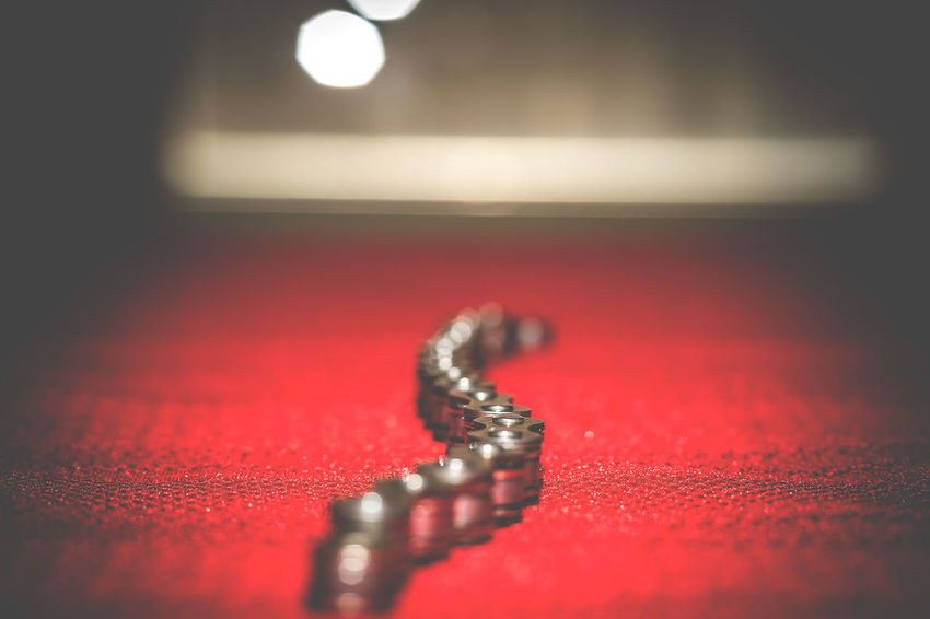 Here are some abstract studio shots i've been playing with .. Bicycle Chain Bokeh Chain Close-up Copy Space Creative Creative Light And Shadow Day Dof EyeEm Gallery Glitter Glittering Healthy Eating Howard Roberts Indoors  No People Red Shadows & Lights Sparkles Studio Studio Photography Studio Shoot Studio Shot Symbolic  This Week On Eyeem
