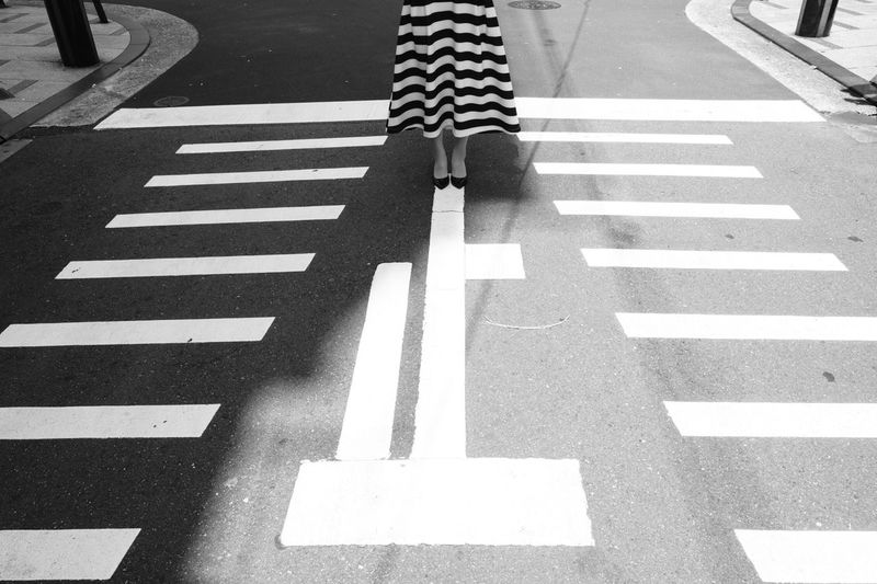 ||||||| Striped Blackandwhite Monochrome Streetphotography Road Marking Road