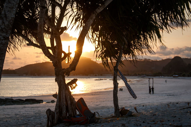 Beach Beauty In Nature Day Mountain Nature No People Outdoors Sand Scenics Sea Sky Sun Sunlight Sunset Tranquil Scene Tranquility Tree Water