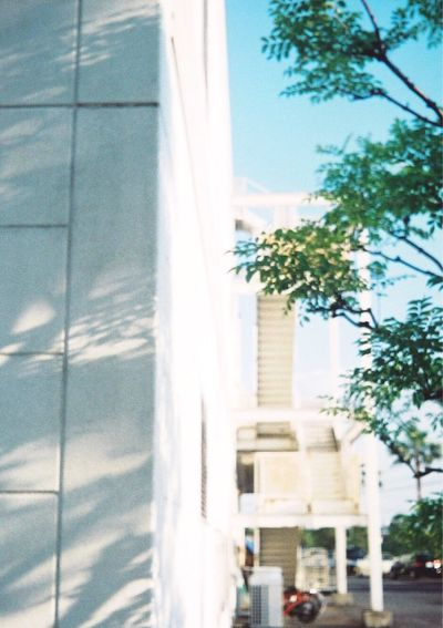 Olympus Film Blue Light And Shadow Taking Photos