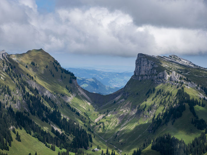Sichel Beauty In Nature Cloud - Sky Day Dramatic Landscape Environment Idyllic Land Landscape Mountain Mountain Peak Mountain Range Mountain Ridge Nature Niederhorn No People Non-urban Scene Outdoors Scenics - Nature Sichel Sky Switzerland Tranquil Scene Tranquility Travel Destinations Valley