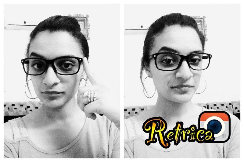 New Glasses ♥ Retrica Follow Me On Instagram Selfie ✌ Blackandwhite