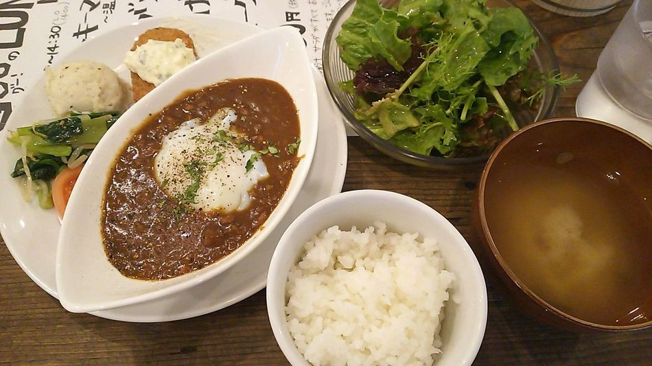 Tokyo Ikebukuro Ikebukuro Lunch Time! Food Porn In My Mouf Enjoy A Meal Enjoying A Meal Curry Rice カレーライス チキンキーマカレー(ºωº)izakayaバル 最初にご飯とお味噌汁出た時…カレーのルーだけなのか、カレーライスで出てくるのかちょっとドキドキしました