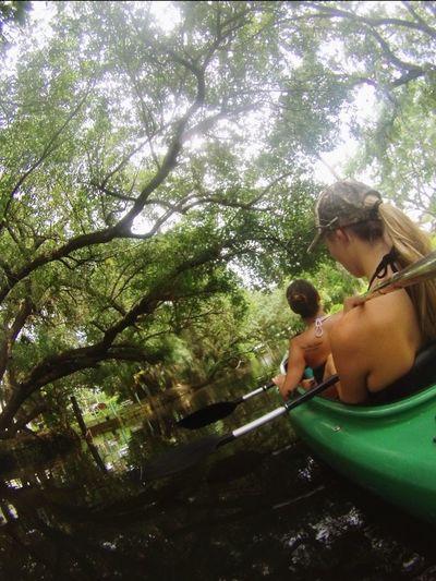 Kayaking Orange River Fitness Blonde Brunette Sunny Day