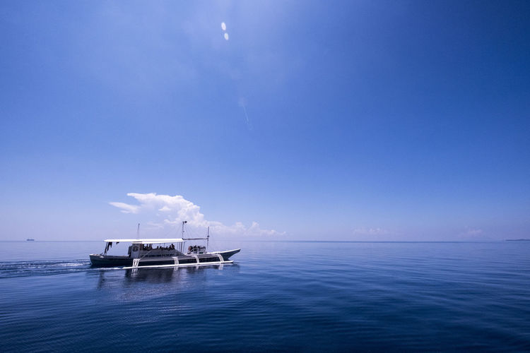 Malapascua Beauty In Nature Blue Clear Sky Day Nature Nautical Vessel Outdoors Photography Sea Sky Water