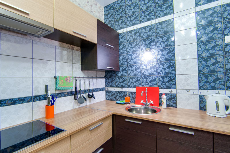 Indoors  Home Household Equipment Domestic Room Modern Kitchen Domestic Kitchen Home Interior Sink Flooring No People Architecture Home Showcase Interior Food And Drink Kitchen Counter Furniture Wood - Material Container Faucet Built Structure Luxury