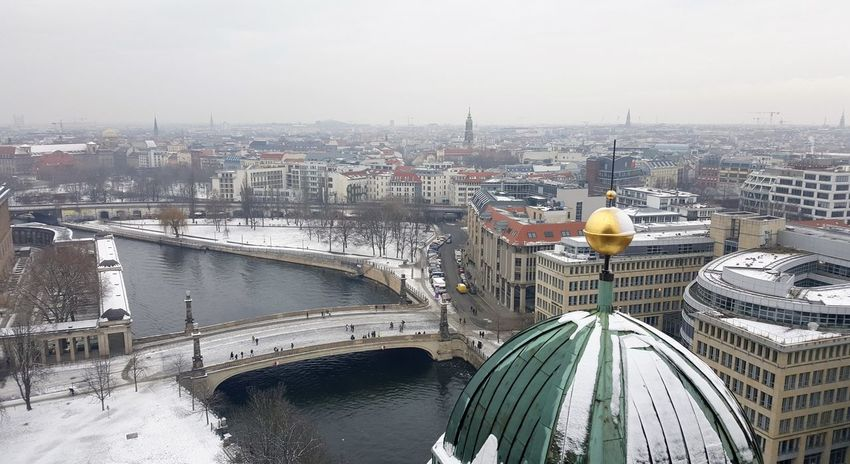 Architecture Berliner Dom City Museumsinsel Berlin Outdoors River Schnee Spree Winter
