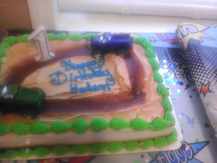My Nephews first birthday cake a little on the redneck side don't you think? Lol