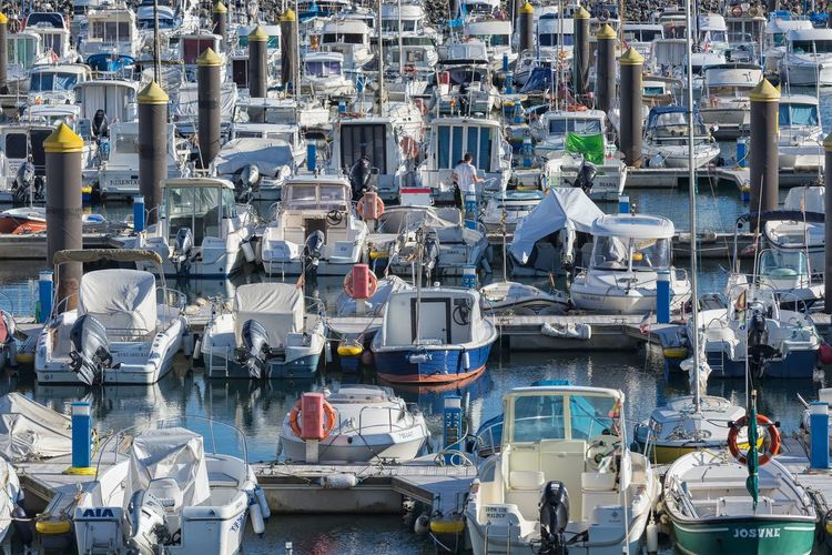 Busy marina in Orio Spain. Water Large Group Of Objects Abundance Harbor Port Marina Repetition Pattern Boats SPAIN Crowded